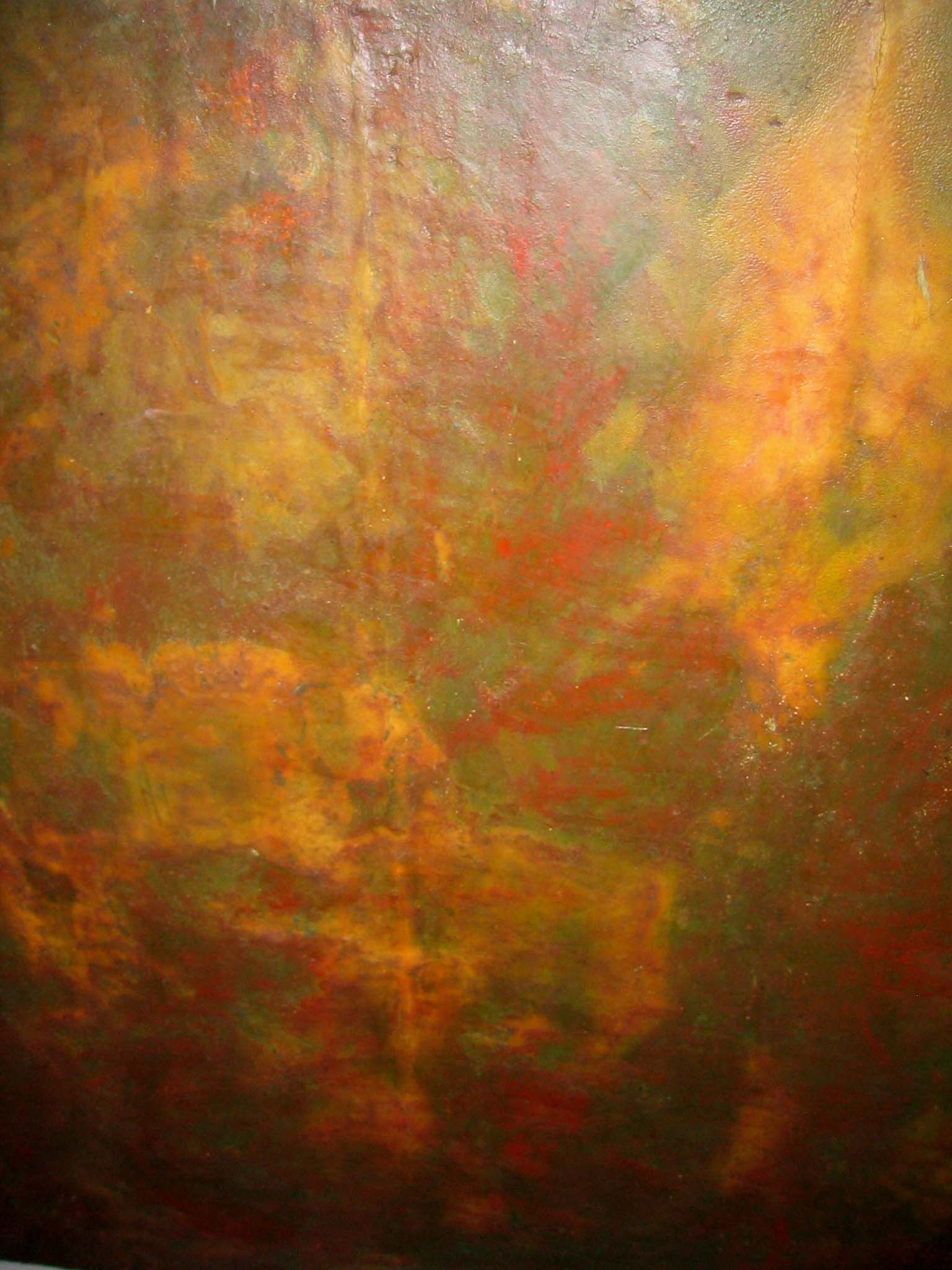 Tryptichon red detail mixed media J.J.. Greiner
